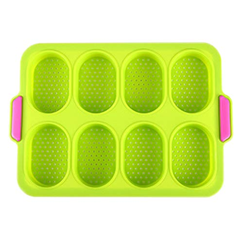 DHYED 8 Holes Square Cupcake Tray Mold Mini Muffin Tray Cupcake Mold Muffin Pan Silicone Bakeware Non-Stick Bakeware Pastry Tool