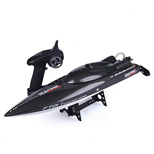 KRCT Barca telecomandata ad Alta velocità 55km   h con Motore Senza spazzole 2.4GHz 4CH Barca radiocomandata Professionale 14.8V 2200mAh Modello di Yacht Elettrico Ricaricabile ad Alta capacità