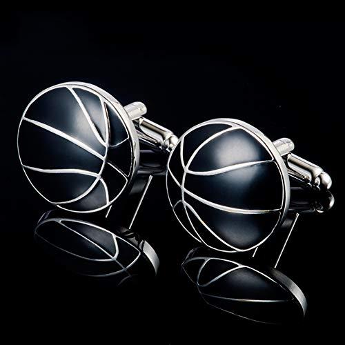 Schwarze Basketball-Manschettenknöpfe Für Männer, Hochwertige Französisch Cuff Nägel, Mode-Hemd-Bolzen Für Hochzeit Geschäfts Party- Freizeit, Stunning Geschenke Für Ihn