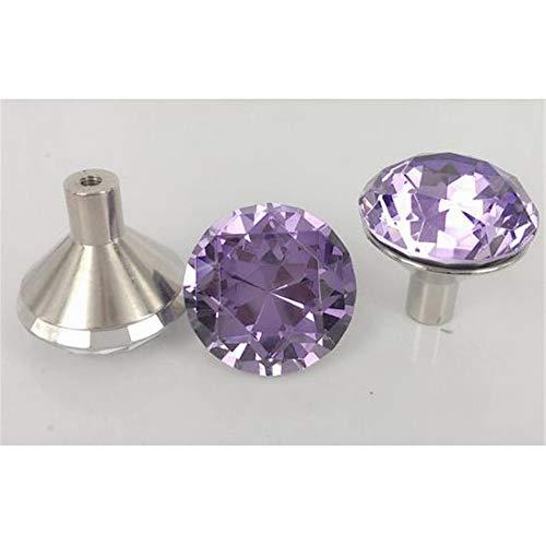 InChengGouFouX helder kristal glas deur knoppen multi-kleur knop set 30 mm kristal gesneden geometrische diamant gesneden glas handvat kast dressoir kast glanzend lade handvat schroeven voor thuis decoreren