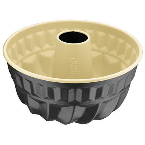 Kaiser Inspiration Plus Gugelhupfform 22 cm, Gugelhupf Backform rund, Kuchenform antihaftbeschichtet mit Rezept, gleichmäßige Bräunung