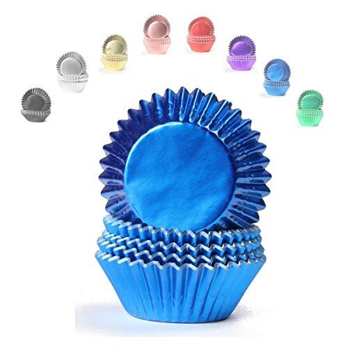 Miss Bakery's House® Mini-Muffinförmchen Folie - Ø 32 mm x 20 mm - Blau - 120 Stück