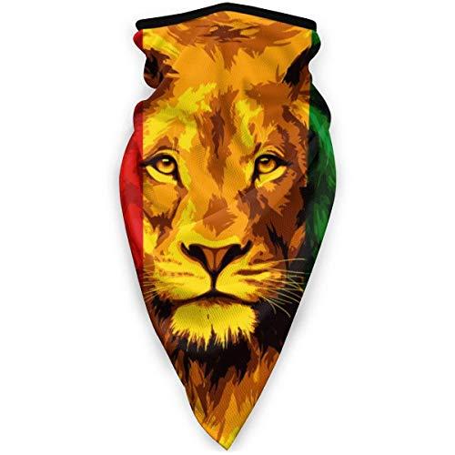 Beating Heart Sportmaske Reggae Flagge Löwe Gesichtsmaske Bandanas Sturmhaube Halstuch Waschbare Fächermasken Kopfbedeckung