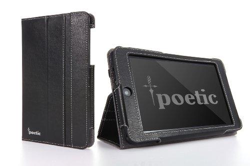 Poetic - Funda con Tapa para tabletas ASUS MeMO Pad HD ME173X de 7'', Color Negro