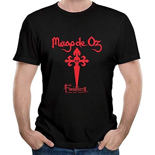 Celtic Metal Mago De Oz Satania Unique T-Shirt Graphic Printed Top Tee for Men Black l