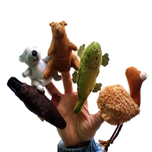 FSDELIV 5 muñecas de dedos de peluche suave de peluche para niños
