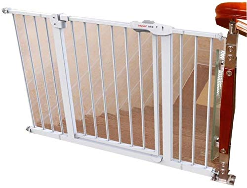 WYH säkerhet dörr-vit metallskydd dörr stängsel glidskena droppar stängsel hund isolering tång bekvämlighet (storlek: 195–194 cm)