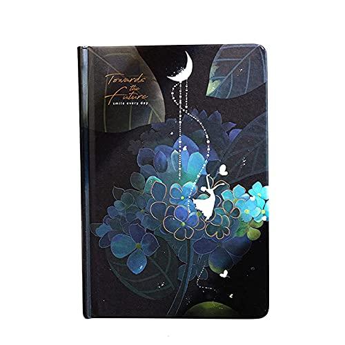 woyada Diario luminoso diario personal con 224 páginas de papel grueso colorido bonito diario para mujeres y niñas regalos