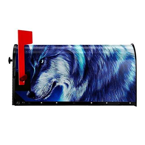 TYHG Standard magnetische Briefkasten-Abdeckung Galaxie Wolf Mond Stern Meteor Home Briefkasten Abdeckung buntes Muster Briefkasten Wrap Haus dekorativ