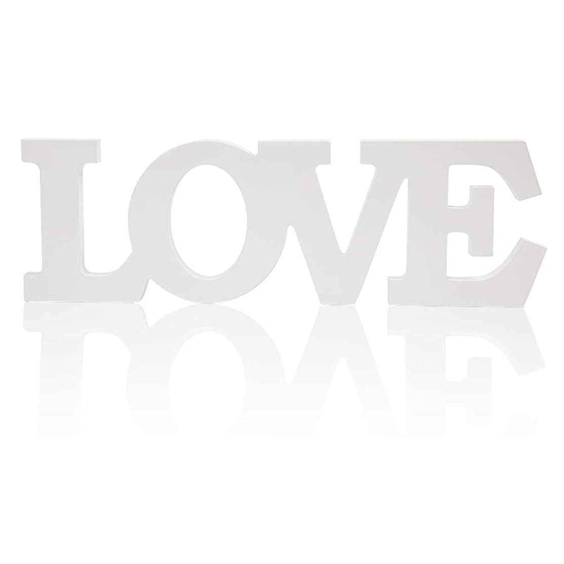 senover Love Sign Wedding Sweetheart Table Decorations,Love Letters Decorative Letters for Wedding Photo Props Party Banner Decoration,Wedding Shower Gift (White Love Large)