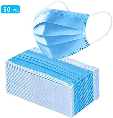 YYRZGW Mascarillas,Desechables con Bucle elástico para la Oreja, 3 Capas, 50 Unidades,mascarillas desechables saliva