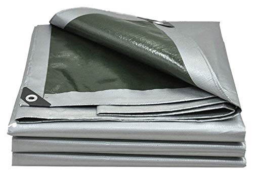 ZSEFV Heavy Duty Waterproof Tarp Heavy Duty Poly Tarps Waterproof, Multi-Purpose Waterproof Plastic Tarpaulin with Grommets, Thick Tarp Cover Great for Canopy Tent, Boat, Rv or Pool Cover