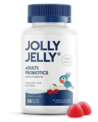 Adults Probiotics Tapioca Gummies - 5B CFU Bacillus Coagulans Per Serving - Non-GMO, Gluten Free, Cherry Flavour - 60 Vegan Gummies. 1 Pack