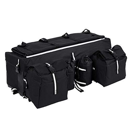 SOULONG Bolsa de sillín universal para moto, con bolsillo en el asiento trasero, apto para bicicleta de montaña, color negro, 68 x 27 x 21 cm