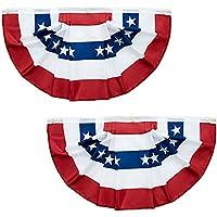 2-Count 3x1.5 Feet American Flag Bunting
