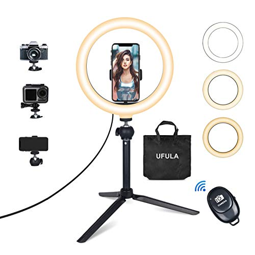 Ring Light with Tripod Stand Phone Holder, UFULA 10