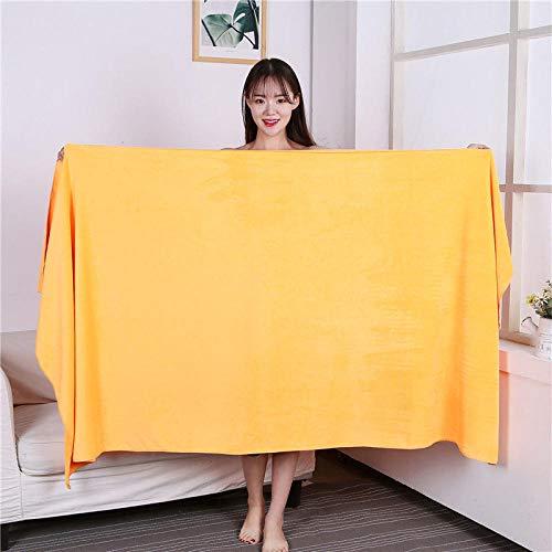 Lyolk Toallas Grandes absorbentes para Adultos, Toallas de Cama y Toallas de baño Grandes para Hombres y Mujeres-Yellow_80x180 Thickening
