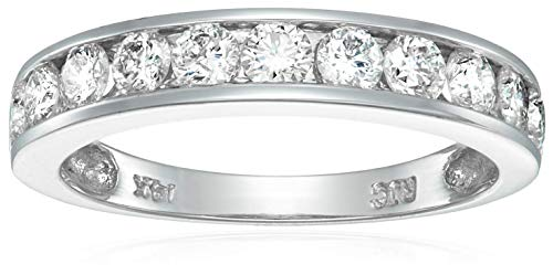 1 cttw Diamond Wedding Band 14K White Gold Channel