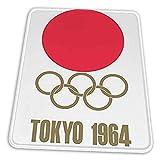 ゲーミングマウスパッド - 東京夏季オリンピック1964 Logo Japan マウスパッド おしゃれ ゲームおよびオフィス用/防水/洗える/滑り止め/ファッショナブルで丈夫 25x30cm