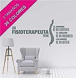 La Tienda de las Pegatinas Vinilo un fisioterapeuta tiene, Zen, Fisio, Relax, Masajes, Gimnasio, Sticker, Pegatina de pared, Decoración Casa. (Pequeño 80 x 35 cm, Turquesa)