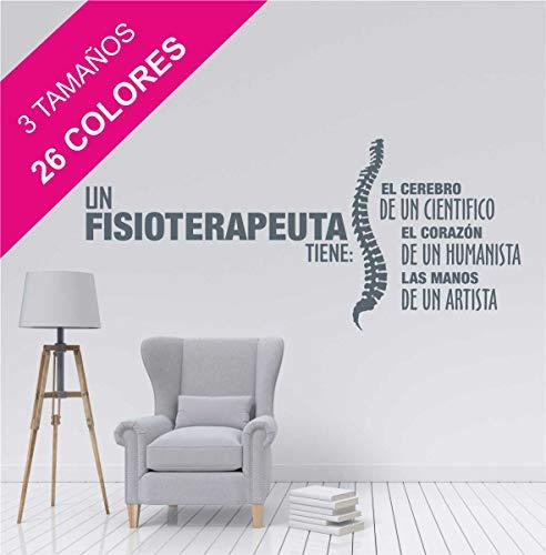 La Tienda de las Pegatinas Vinilo un fisioterapeuta tiene, Zen, Fisio, Relax, Masajes, Gimnasio, Sticker, Pegatina de pared, Decoración Casa. (Mediano 116 x 51 cm, Negro)