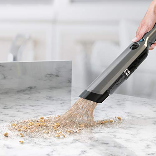 Shark WANDVAC Handheld Vacuum, Lightweight at 1.4 Pounds with Powerful Suction, Charging Dock, Single Touch Empty and Detachable Dust Cup (WV201)