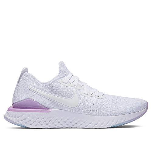 Nike Epic React Flyknit 2 Women's Running Shoe White/White-Pink Foam 7.5