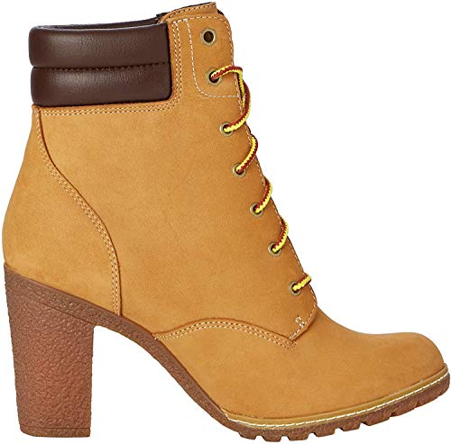 Timberland Damen Tillston 6 Inch Double Collar Stiefel, Gelb (Wheat), 41.5 EU
