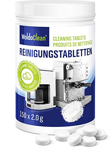 Cleaning Tablets for Coffee and Espresso Machine - Pack of 150, Cleaner Suitable for Automatic Coffee Makers and Capsule Machines