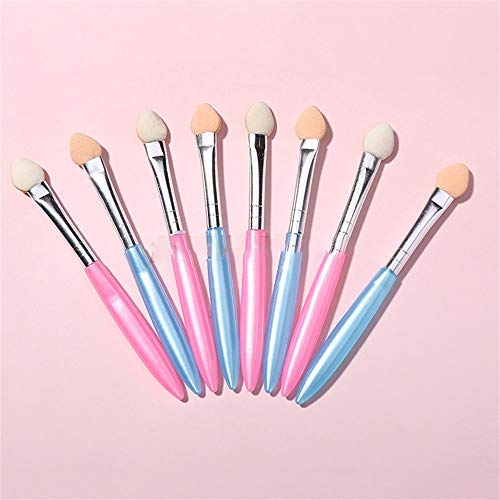 Hsheng 100 pcs portable ombre à paupières bâton unique tête longue tige éponge ombre à paupières bâton maquillage outil de maquillage