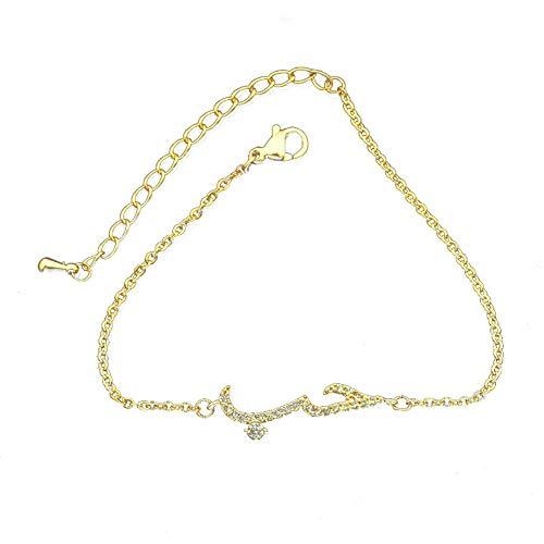 Vektenxi Frauen Arabisch Brief Liebe Faux Quarz Kette Armband Armreifen Halskette Schmuck Armband Goldene Langlebig und Nützlich