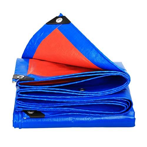 WZNING Lona de plástico acolchada a prueba de lluvia para toldos, tela de protección solar, tela de color para coche, duradera y protectora (tamaño: 3 x 5)