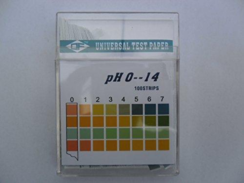 Lot de 100 bandes d'essai pH neuf PH Papier indicateur Aquarium Bandes de test pH