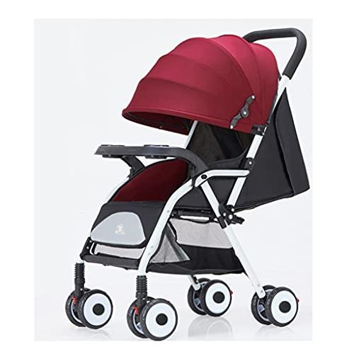 jiji sillas de Paseo Cochecito, Push de Dos vías Puede Sentarse Reclínica Ultra Light Portátil Portátil Plegable Simple Cuatro Ruedas Carrito Cochecito Cochecito de bebé