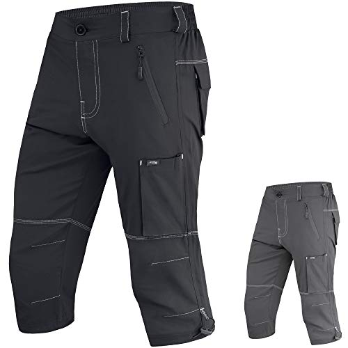 Brisk Bike 3/4 MTB Pantaloncini da mountain bike, Nero , M