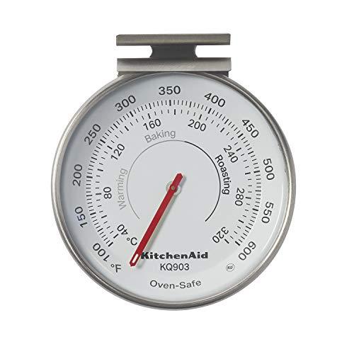 KitchenAid 3-in Dial Oven Thermometer, TEMPERATURE RANGE: 100F to 600F, Black
