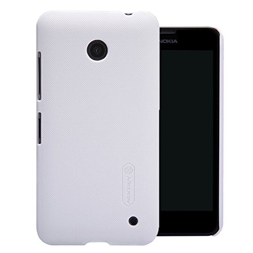 Nillkin Frosted Shield Hard Bumper Back Case Cover for Nokia Lumia 630 635 638 with Free Nillkin Screen Guard - White