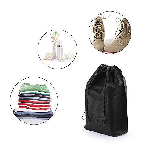 ZQEU 10 Stück Wasserdichte Reise Schuhtasche Große Vlies Kordelzug Schuhe Aufbewahrungstaschen mit transparenten Taschen für Damen und Herren