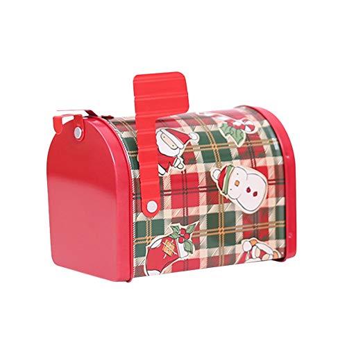 TankMR metalen brievenbus kerstdozen, behandelt snoep chocolade goodies dozen, kerstfeest benodigdheden Plaid