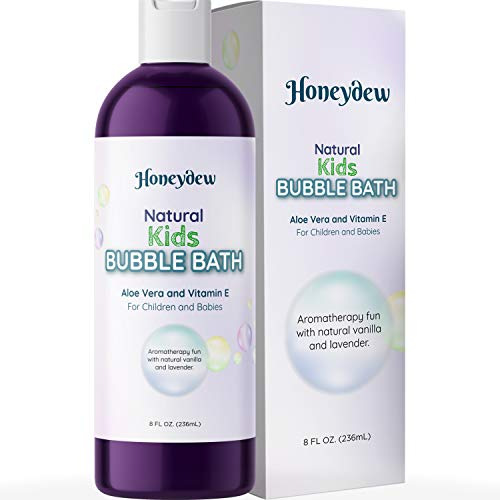 Hypoallergenic Kids Bubble Bath Oil - Aromatherapy Essential Oils for Relaxing Baby Bubble Bath and Lavender Oil Bath Accessories for Baby Wash and Baby Bath Set - Aloe Vera Tear Free Toddler Bath Oil
