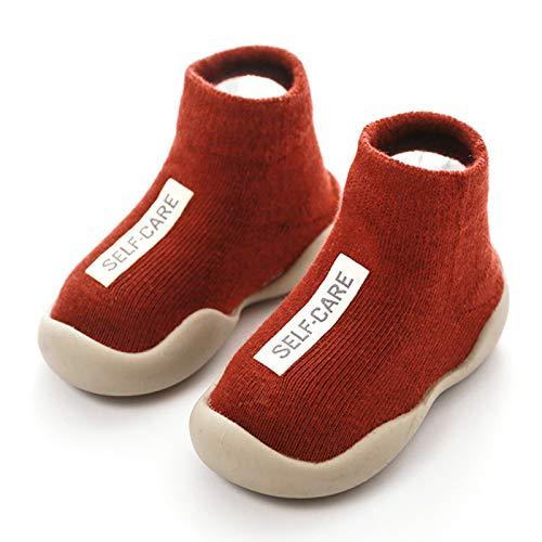 Barn halkskydd strumpor skor baby skor pojkar flickor mjuk sula halkfri lätt slip-on sneakers utomhus