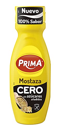 Prima - Mostaza Cero, Sin Azúcares Añadidos, Mismo Sabor Con Menos Calorías, 330 Gramo