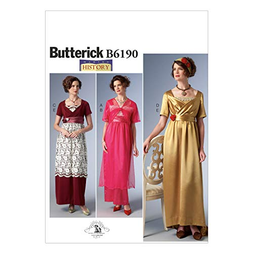 Butterick Patterns 6190 E5 tamaño 14/16/18/20/22 Patrones de Costura para Traje de...