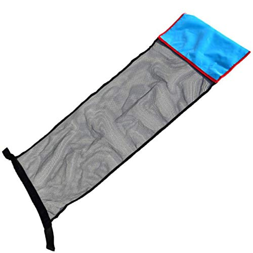 Piscina Flotante Hamaca de Agua Tumbona Piscina Inflable Flotador Silla de natación Cama Azul