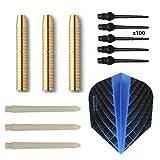 Arcam Set Eco Brass 2ba blau + 100 Spitzen