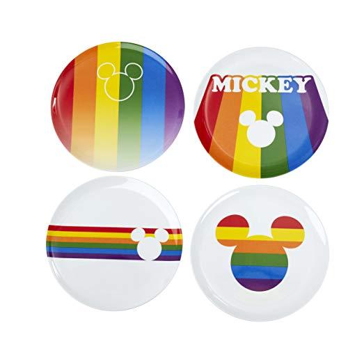 Funko Melamine Plate Set: Mickey Rainbow, Multicolor, 1.25 picometer, 4