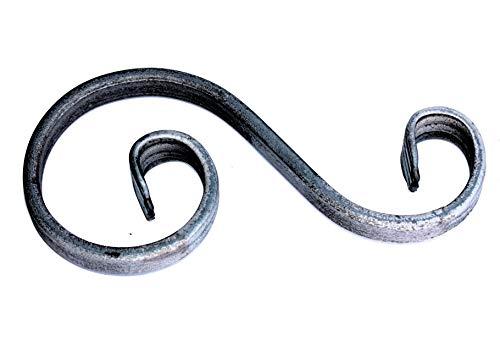 UHRIG ® S Schnörkel Bogen schmiedeeisen 12x6mm Zierelement Stahl Eisen für Zaun Geländer (170x70mm)