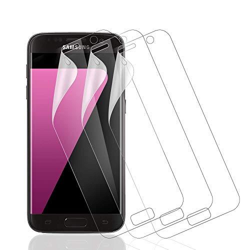Wiestoung 3 Pièces Film Protection écran pour Samsung Galaxy S7,Couverture Complète Souple TPU Film Écran Protecteur pour Samsung Galaxy S7