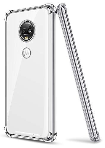SALAWAT Moto G7 Hülle, Klar Moto G7 Plus Hülle Niedlich Farbverlauf Slim Phone Hülle Cover Verstärktes TPU Bumper Hard PC Stoßfest Schutzhülle für Motorola Moto G7 G7 Plus 6,2 Zoll 2019 (Kristallklar)