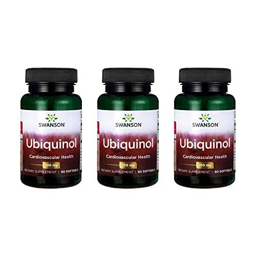 Swanson Ubiquinol 100 mg 60 Sgels 3 Pack